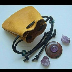 Handbags - Leather Pouch //Crystal Pouch //Mojo Bag